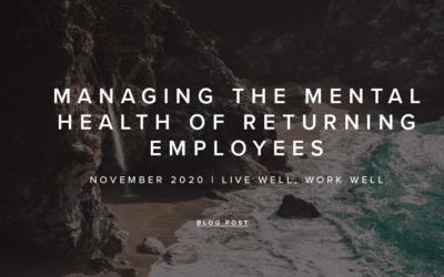November 2020 | Live Well, Work Well